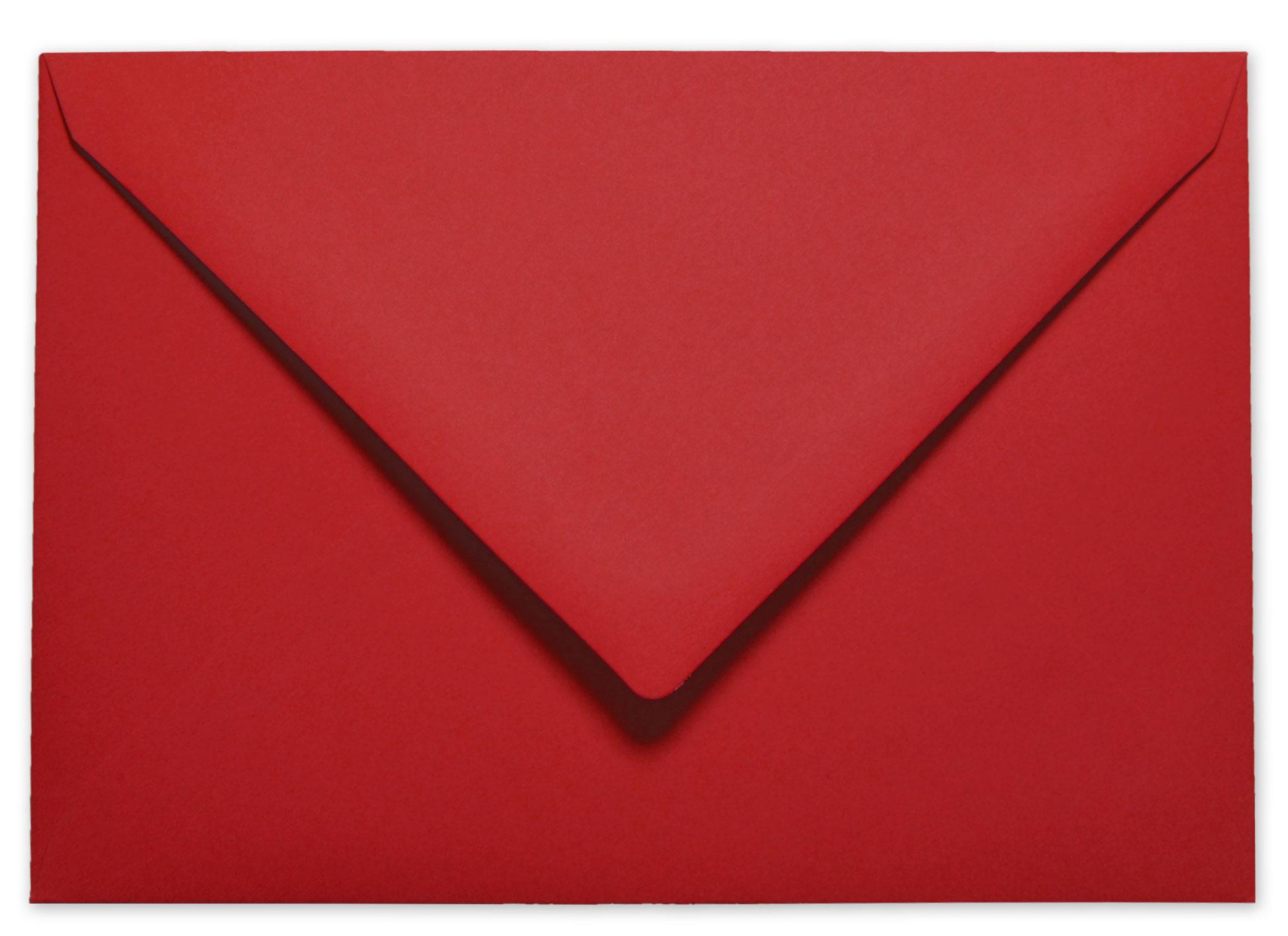 Briefumschlag Kuvert In Weihnachtsrot C6 120gm² Nassklebung