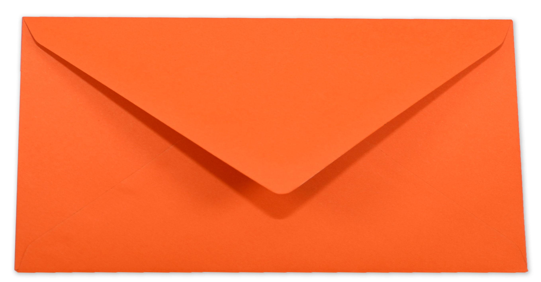 Briefumschlag Kuvert In Orange Din Lang 120gm² Nassklebung