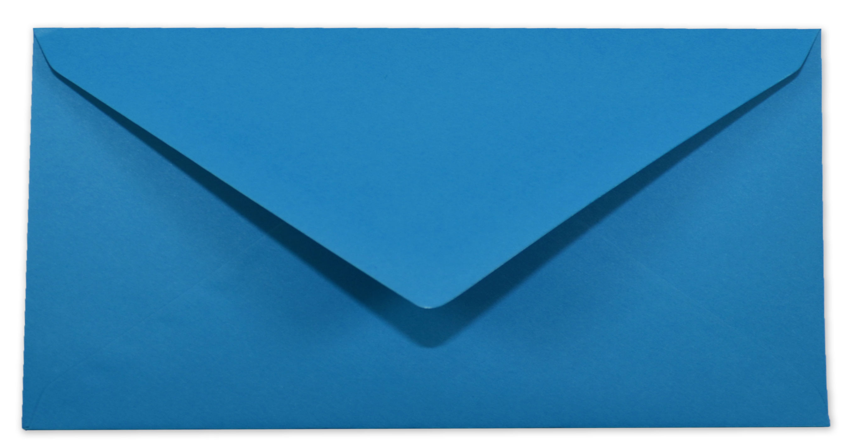 08b69459d3 Briefumschlag - Kuvert in pazifikblau DIN-Lang 120g/m² Nassklebung