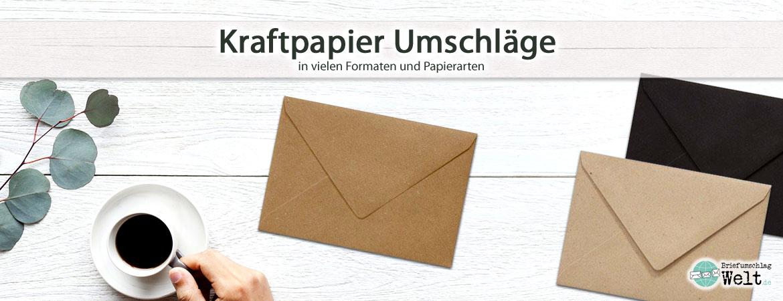 Kraftpapier Umschläge
